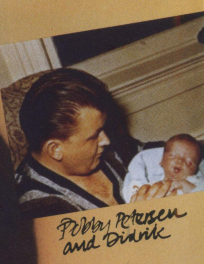 Bobby Petersen and son Didrik, 1964