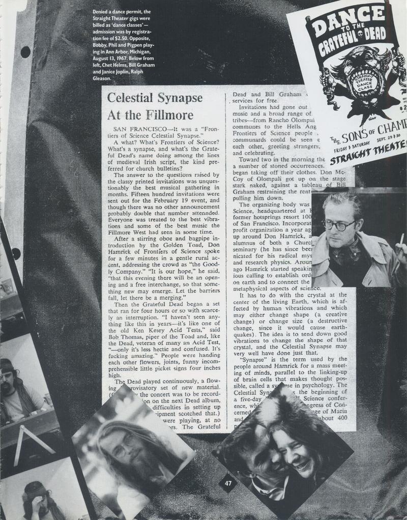Grateful Dead Family Album Page 47 Celestial Synapse