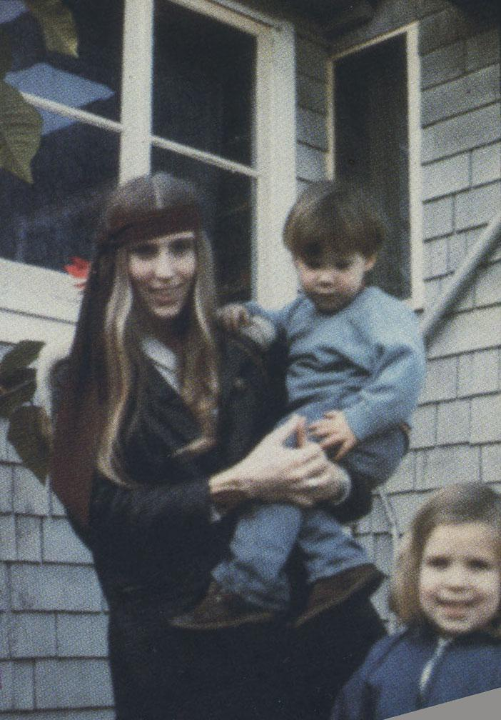 Jerilyn and her children, Christina and Creek, when they moved onto Mickey's ranch in 1971, where they lived until 1981.