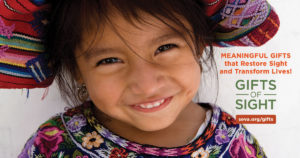 seva foundation home page - image of child smiling