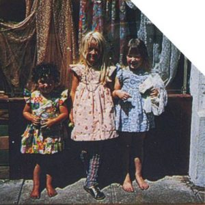 Kumquat Mae had its own childcare, from the left is Annabell Garcia, Sunshine Kesey and Ambrosia Healy.