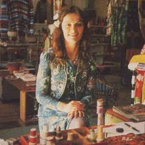 Kristine Bennett Healy, one of the creators of Kumquat Mae, and many of the beautiful clothes made there